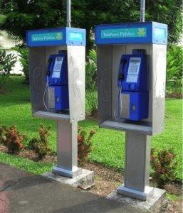 "Multipago Public Telephones"" (exclusive to Kölbi) throughout Costa Rica. Kolbi photo"