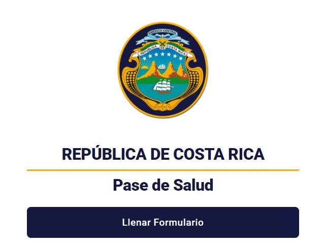 Imagen del PASE DE SALUD del Gobierno de Costa Rica